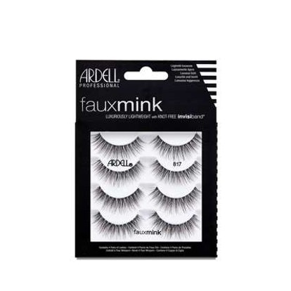 Ardell Eyelash Faux Mink 817 Black - 4pc