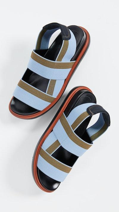 Marni Fussbett Two Band Slingback Sandals