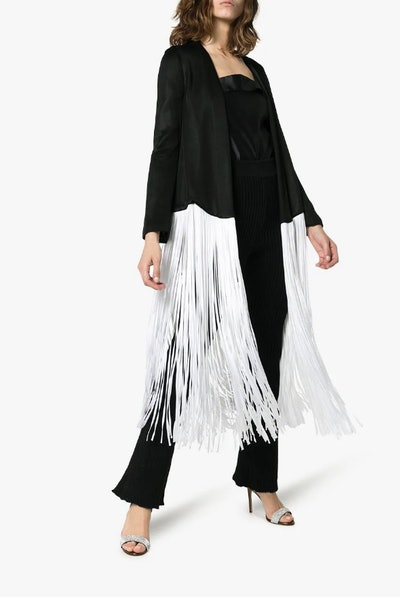 Dusk Long Contrast Fringe Jacket