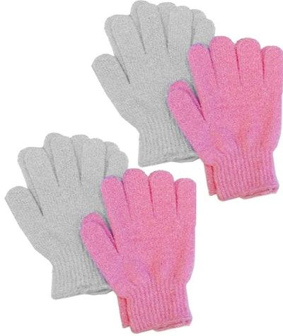 Aquasentials Exfoliating Bath Gloves (4 Pack)