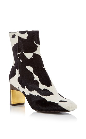 Cow Print Ankle Boot