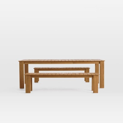 Playa Expandable Dining Table and Benches Set