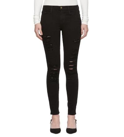 Black 'Le Color Ripped' Jeans