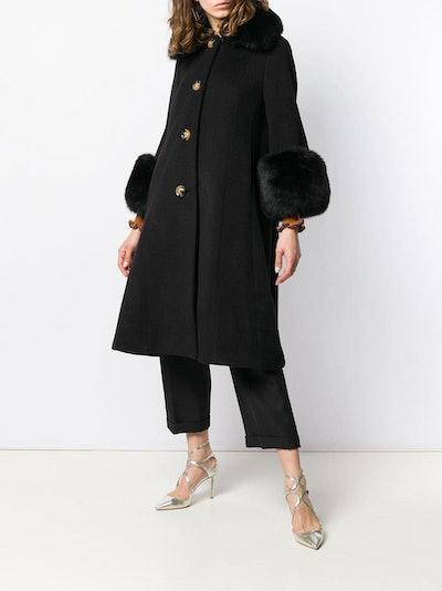 Long Fur-Lined Coat