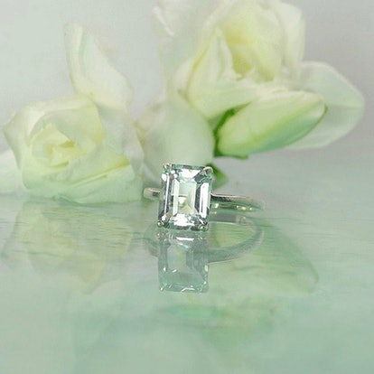 Herkimer Diamond Engagement Ring