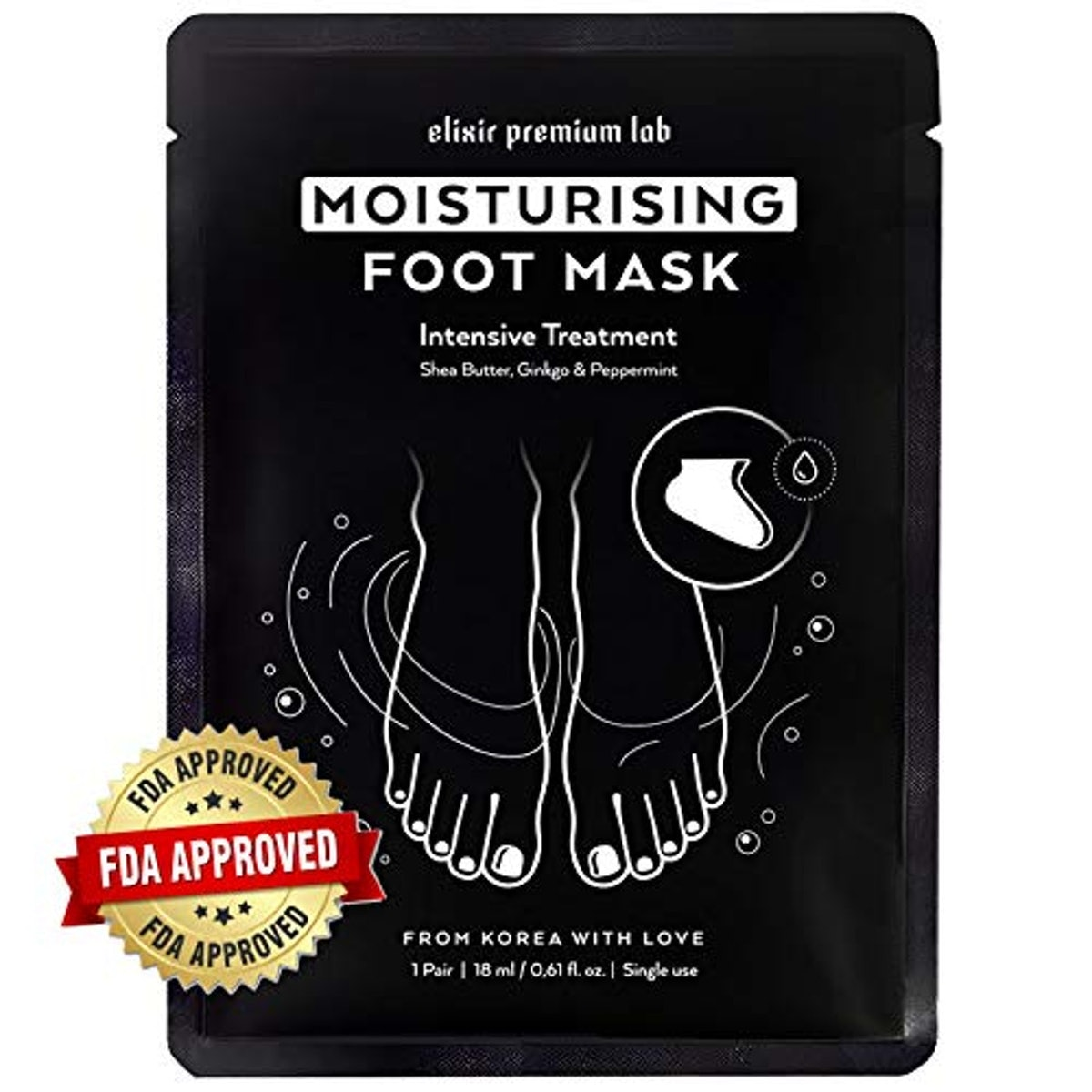 Elixir Premium Labs Moisturizing Foot Mask