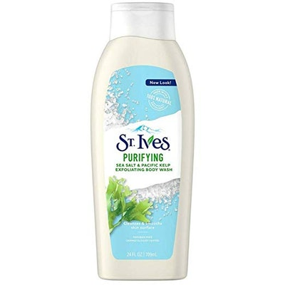 St. Ives Purifying Sea Salt & Pacific Kelp Exfoliating Body Wash (3 Pack)