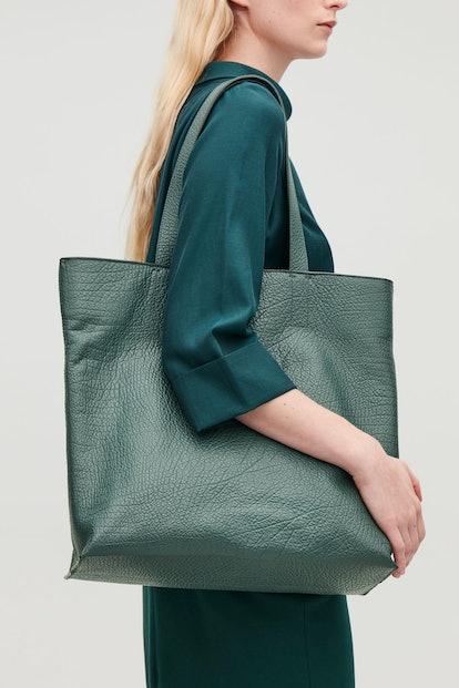 Detachable-Pouch Leather Bag