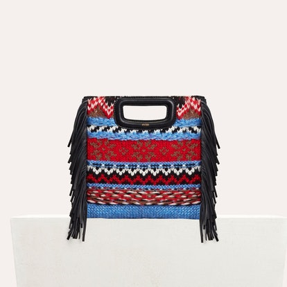 Mini M Bag in Knit and Leather