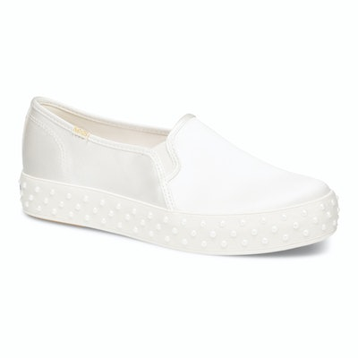Keds x Kate Spade New York Triple Decker Satin with Pearl Foxing