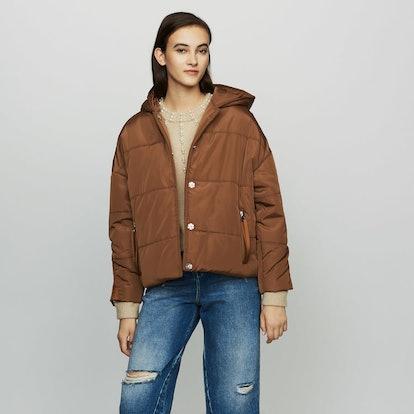 Cropped Hood Down Jacket
