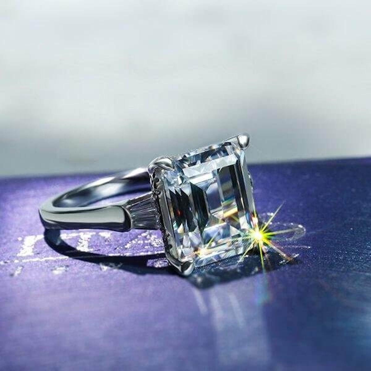 White Sapphire Engagement
