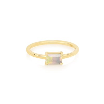 Stone and Strand Octagon Cut Opal Ring