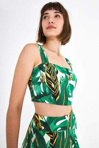 Amazonia Wide Strap Crop Top