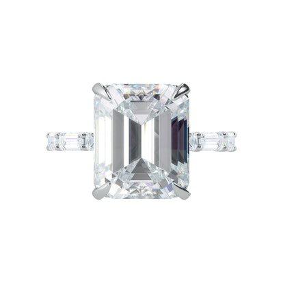 18k White Gold 5 ct Fancy Diamond Simulant