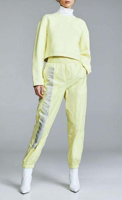 Nylon Pants with Reflective Print Detail