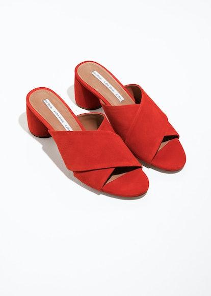 Criss Cross Slide Sandals
