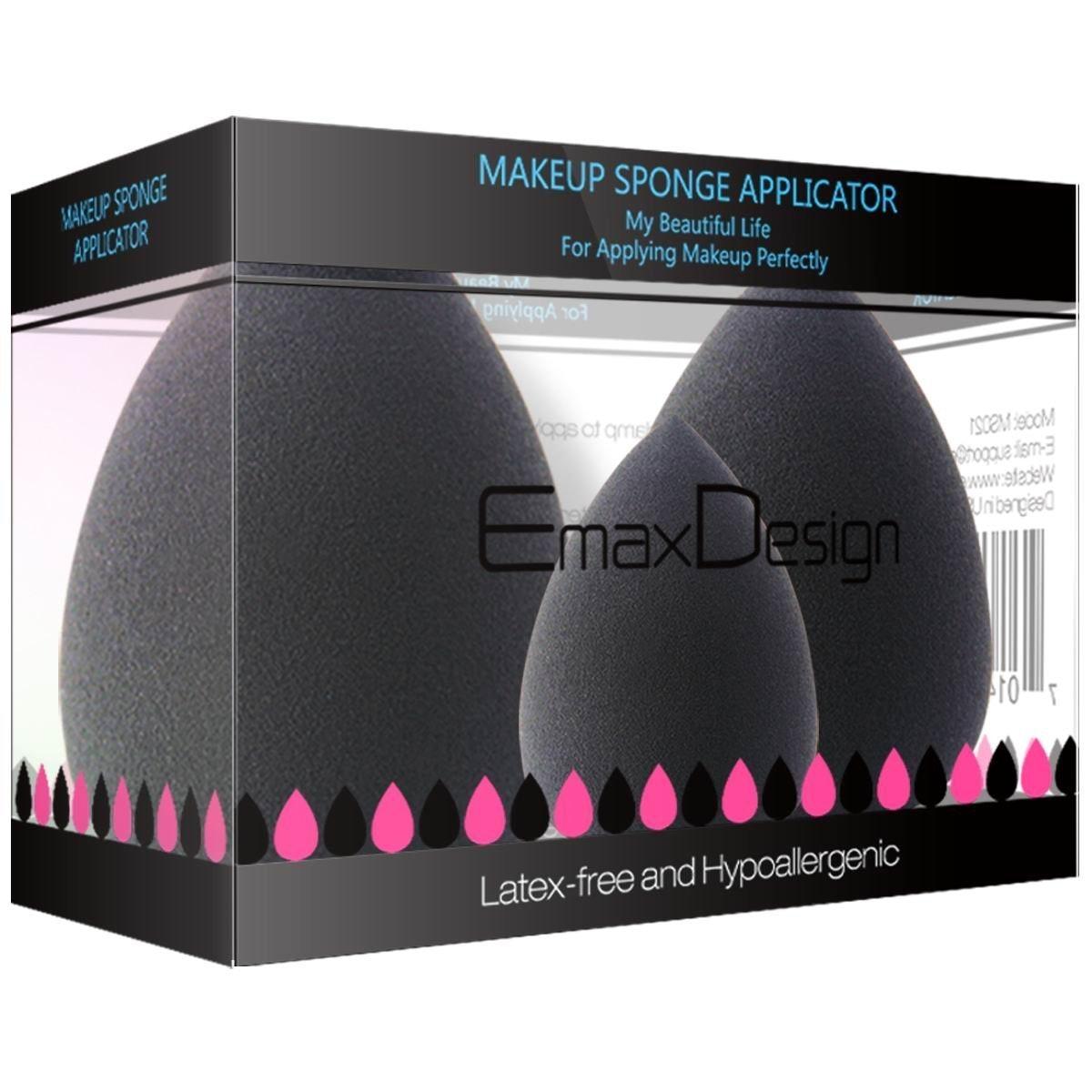 EmaxDesign Makeup Blender Sponge Set (3 Pack)