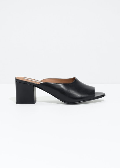 Open Toe Heeled Mules