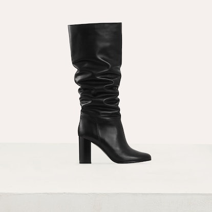 Heeled Over-the-knee Leather Boots