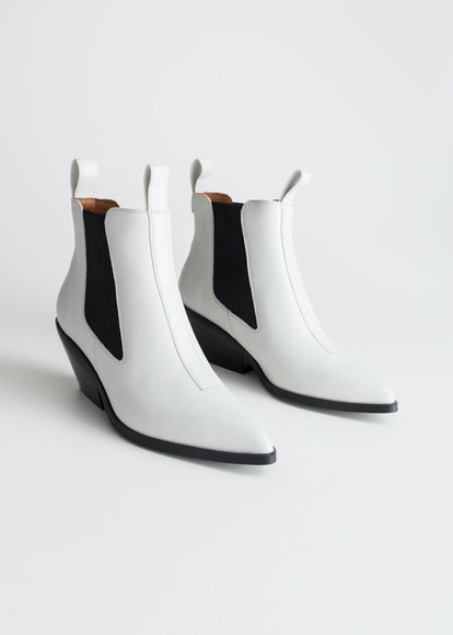 Low Leather Cowboy Boots