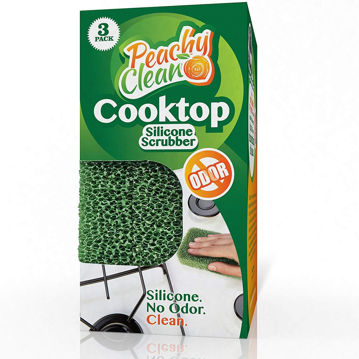 Peachy Clean Antimicrobial Cooktop Scrubbers (3 Pack)