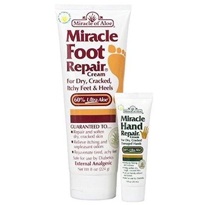 Miracle of Aloe Foot And Hand Repair Creams