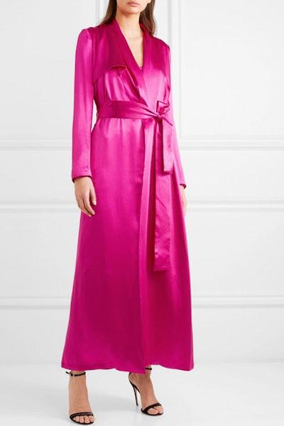 Silk-Satin Trench Coat