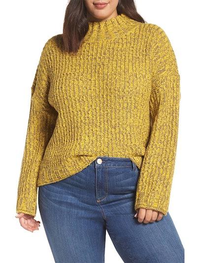 Cozy Stitch Mock Neck Sweater