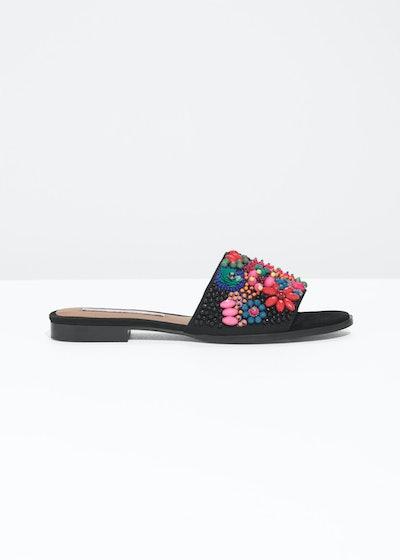 Embellished Slip On Sandals