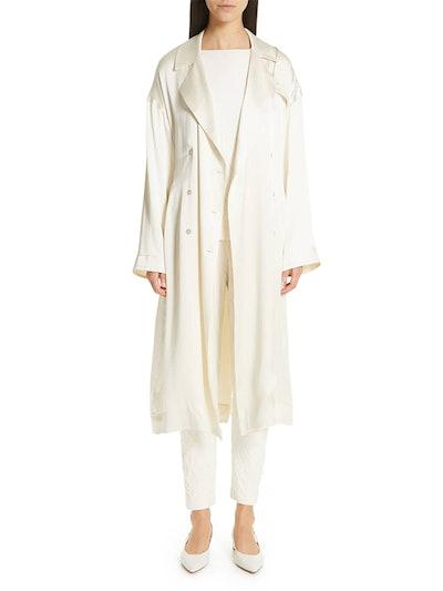 Silk Satin Trench Coat