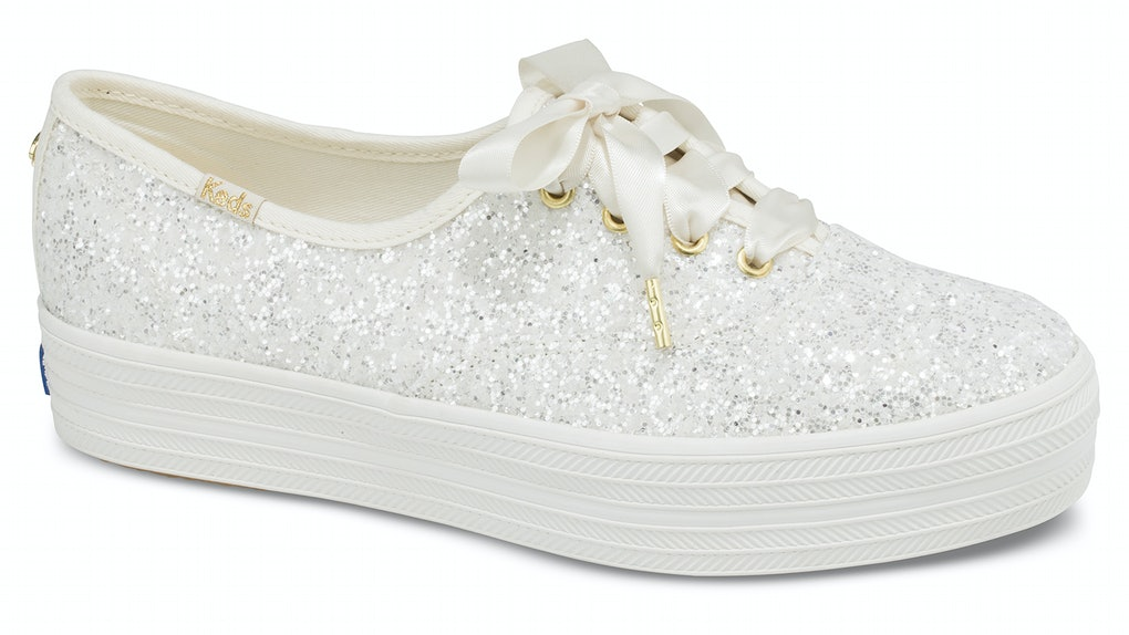 5bfdc6311629 The Keds x Kate Spade New York Wedding Collection Is A Glittery Dream