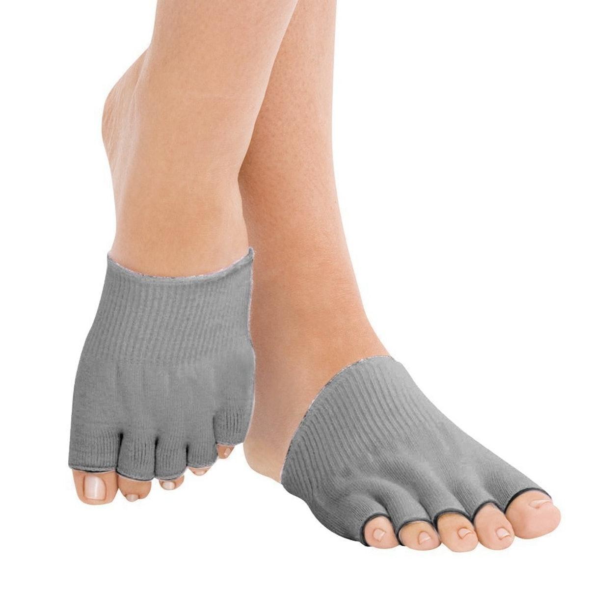Bcurb Gel Lined Compression Toe Socks