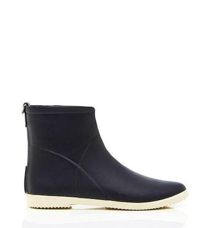 Minimalist Black + White Ankle Boot