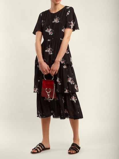 Three-Tier Floral-Print Dress