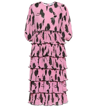 GANNI Exclusive To Mytheresa – Floral Pleated Georgette Dress