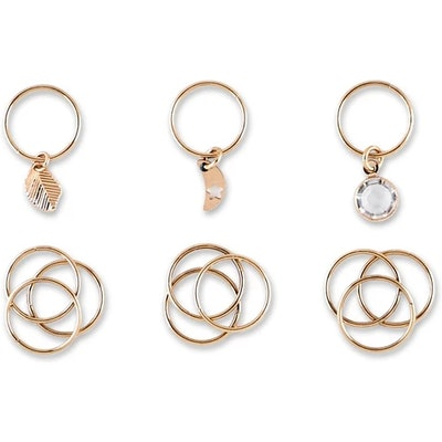 Sincerely Jules by Scunci Metal Hair Jewelry Rings - 3pk