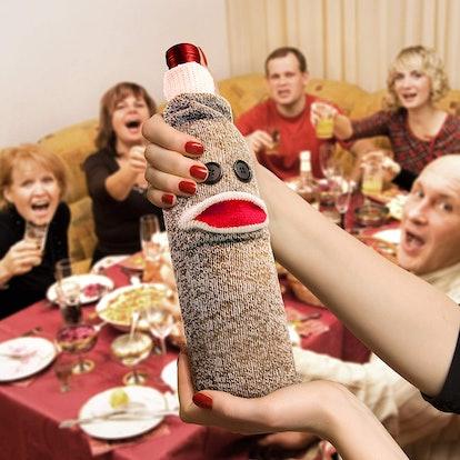 Fred & Friends Sock Monkey Bottle Caddy