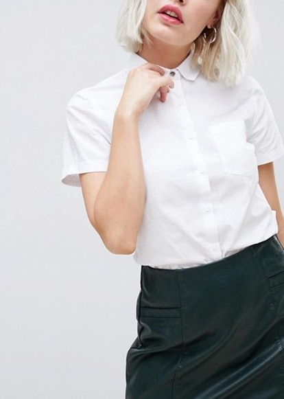 New Look Short Sleeve Work Shirt