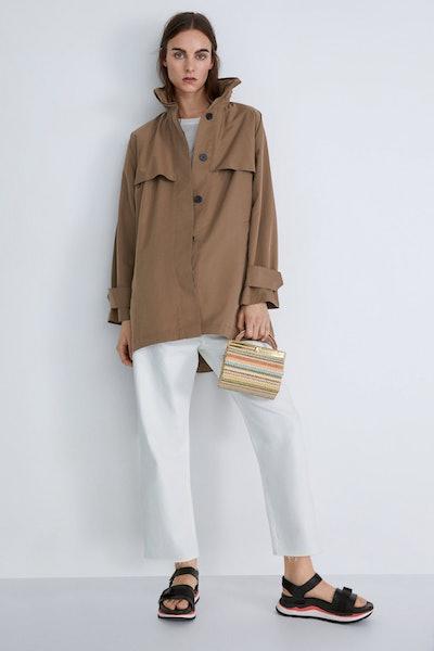 Zara Multi-Stripe Minaudiere Bag