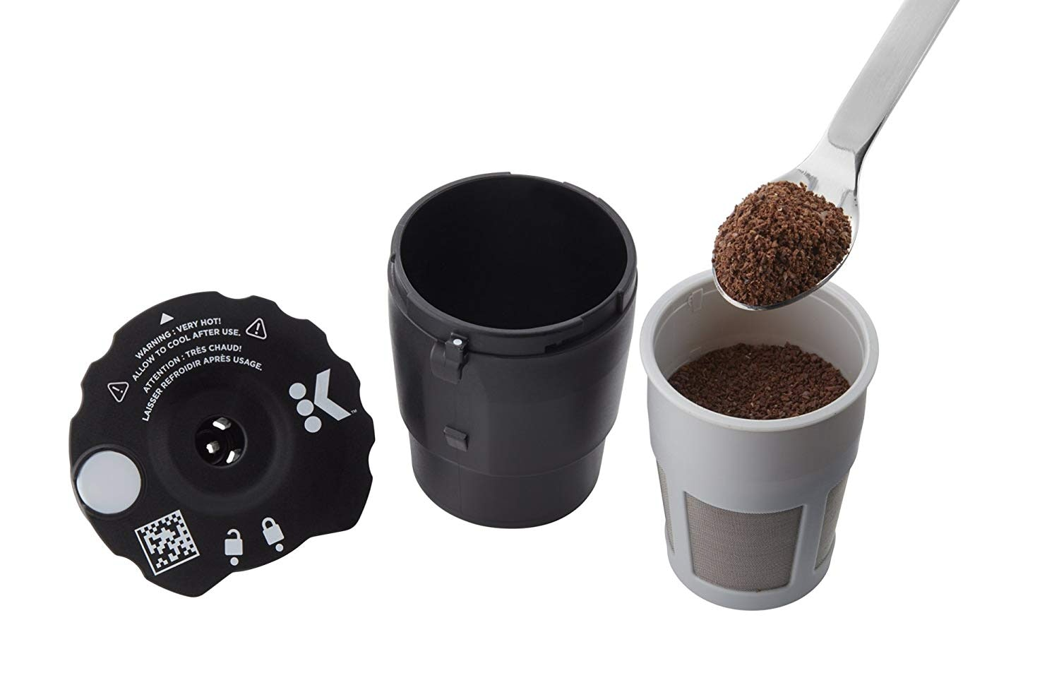 Includes 3 Filters Coffee Mug Compatible with K-Cups and Reusable K-Cups