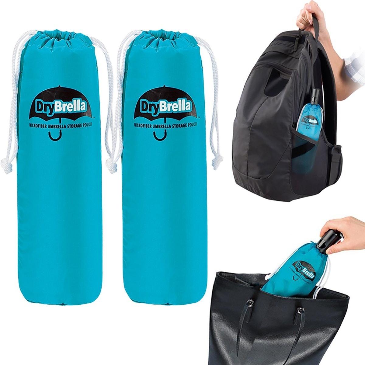 Drybella Microfiber Umbrella Storage Pouch (2 Pack)