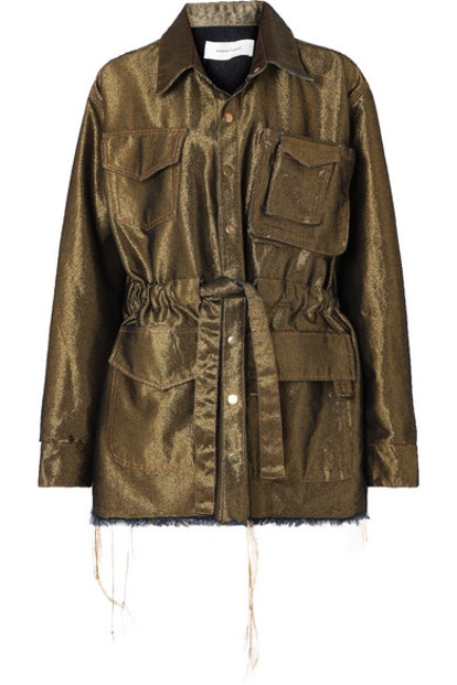 Marques' Almeida Metallic Denim Jacket