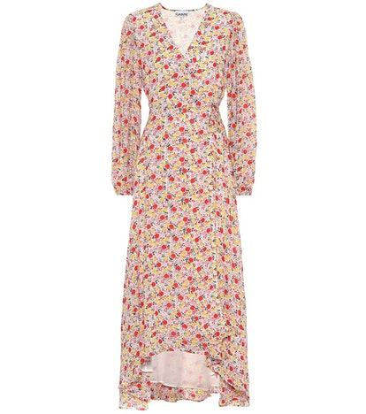GANNI Exclusive To Mytheresa – Floral Georgette Wrap Dress