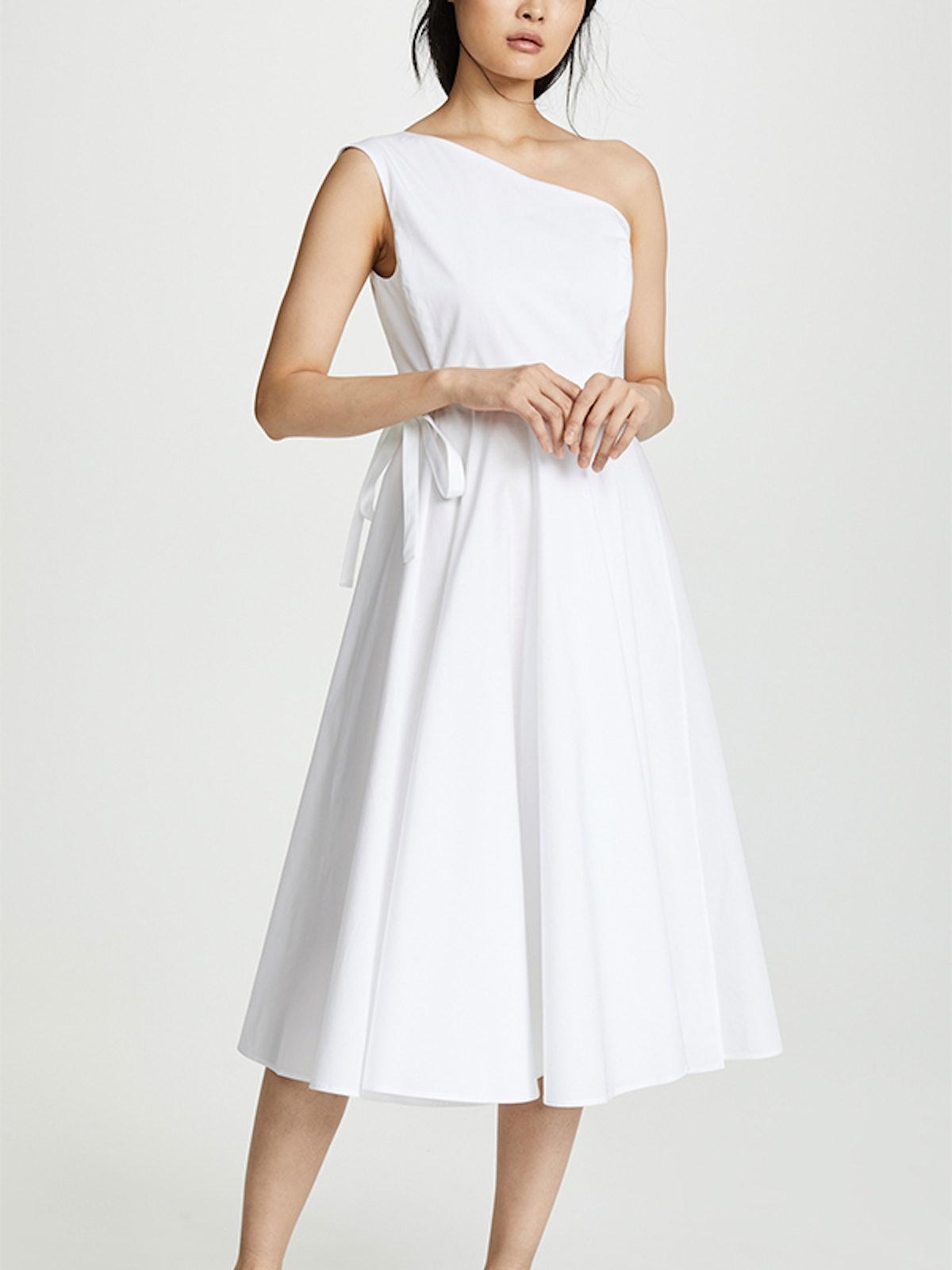 One Shoulder Wrap Dress
