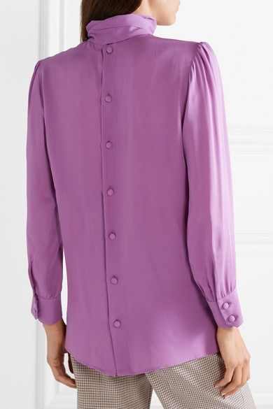 7624a6fecfb0a Kate Middleton s Pussy Bow Blouse Workwear Look Can Easily Be Duplicated  For A Fraction Of Her £700 Budget