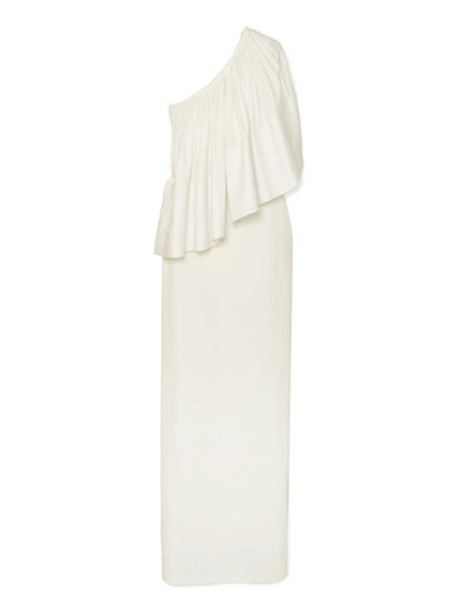 Lison One-Shoulder Stretch-Cady Gown
