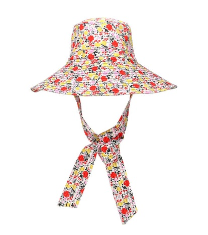 GANNI Exclusive To Mytheresa – Floral Wide-Brim Hat