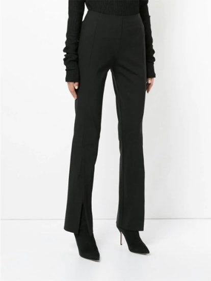 Slit Front Flared Trousers