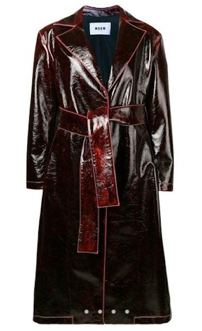 Patent Trench Coat